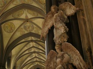 Angels, Salisbury Cathedral UK -- Ana Gobledale