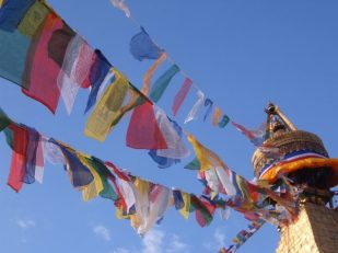 prayer flags, Kathmandu, Nepal -- Ana Gobledale