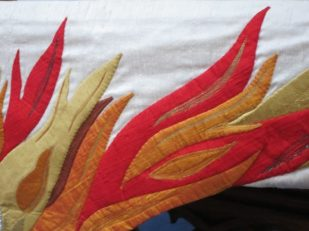 Pentecost frontal, Salisbury United Reformed Church, Wiltshire UK -- Ana Gobledale