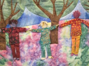 Children tapestry, First Congregational Church UCC, Bellingham Washington USA