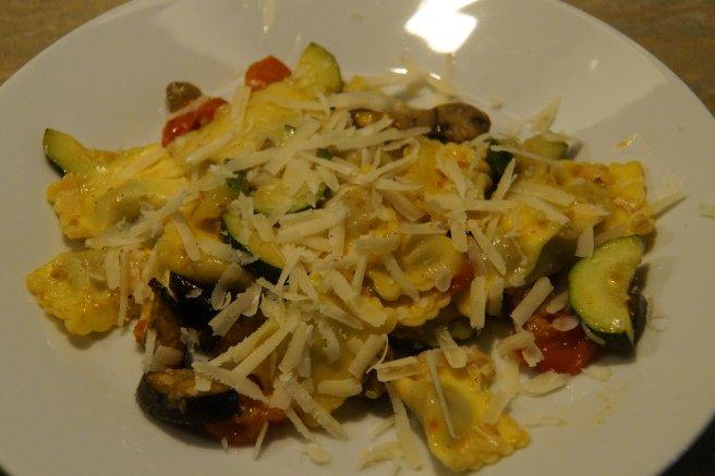 Ravioli met geroosterde groenten uit de oven