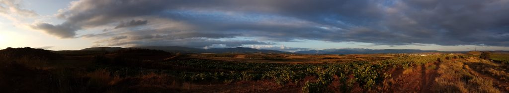 Panoramafoto pelgrimstocht Camino Frances