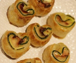 courgettehartjes-met-bacon-en-geitenkaas van Anita