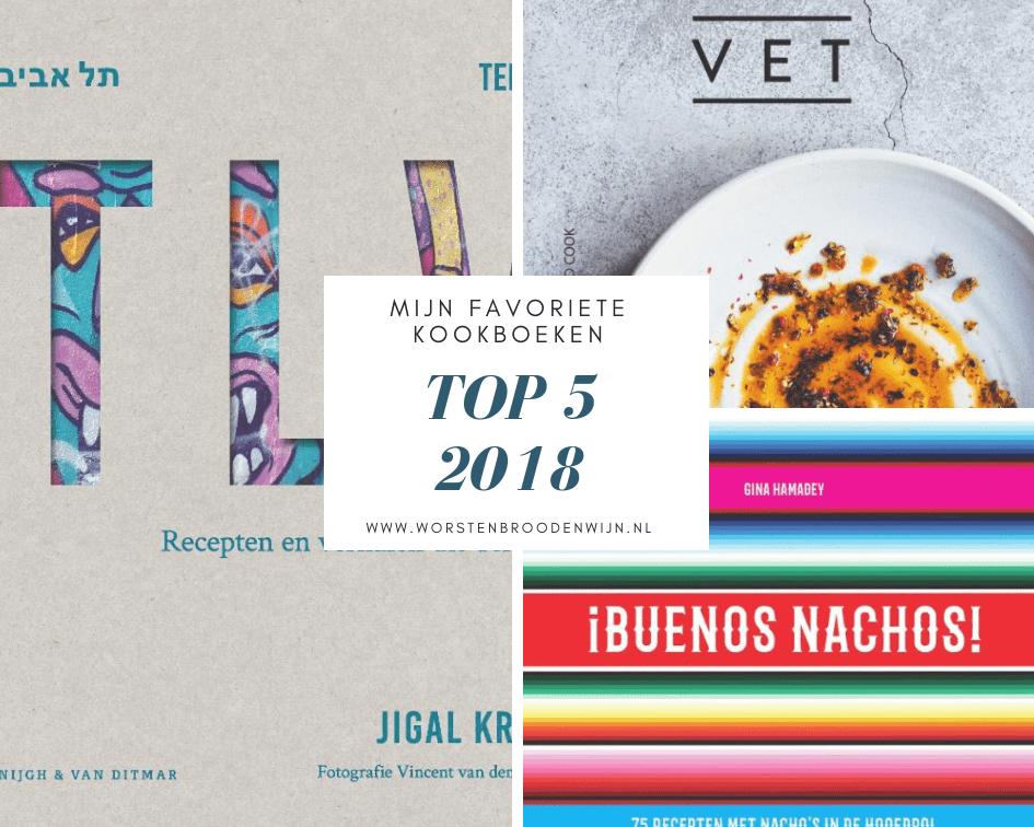 Mijn top 5 favoriete kookboeken 2018
