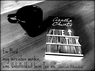 Agatha Christie Tee Buch schwarz weiß