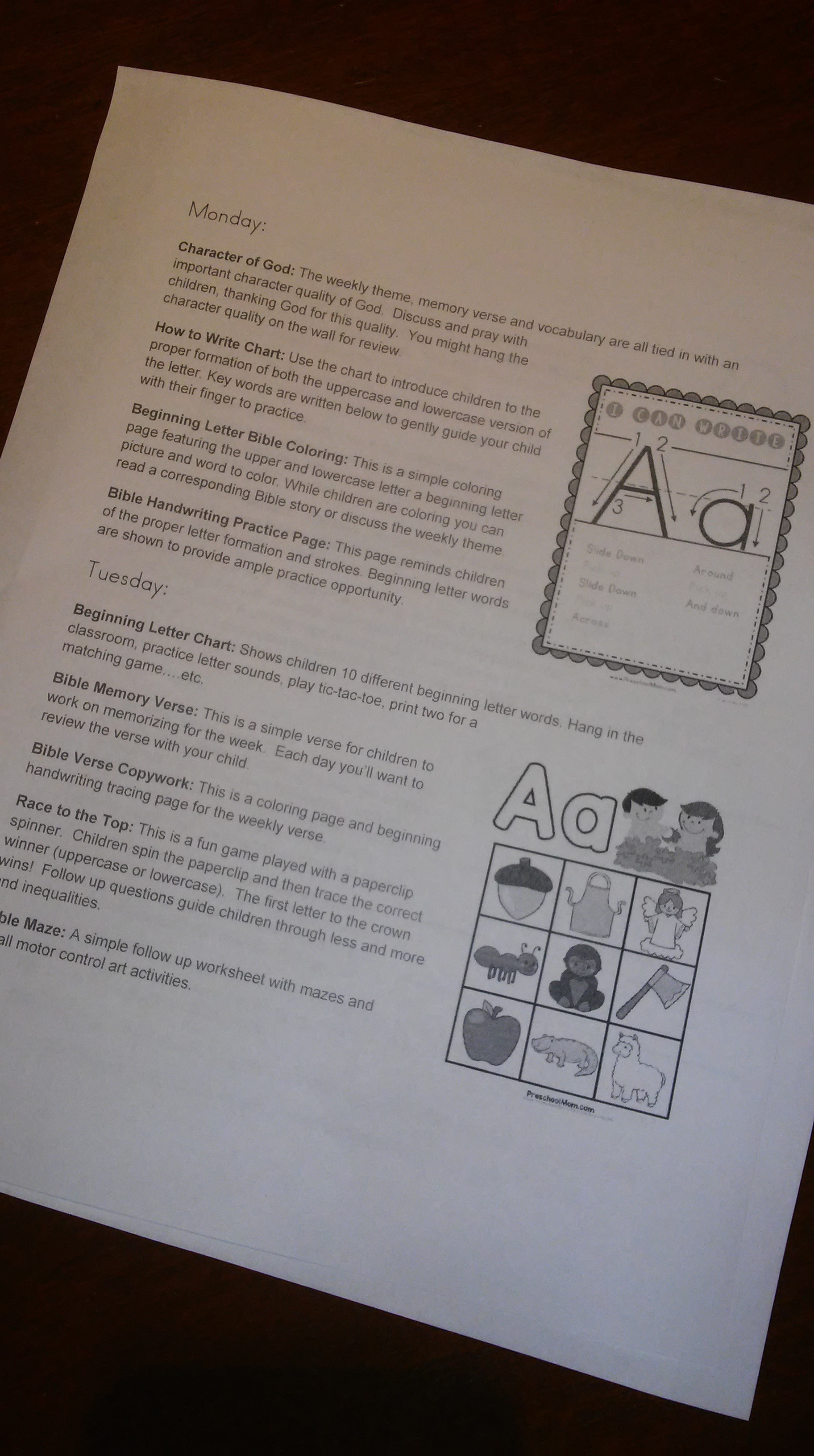 Bible Abc Letter Of The Week Curriculum Notebook Bible T