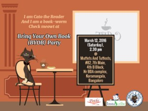 Bring Your Own Book (BYOB) Party on Mar 12, 2016 (Saturday)