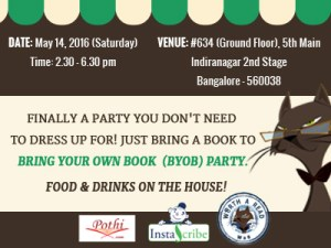 Bring Your Own Book (BYOB) Party on May 14, 2016 (Saturday)