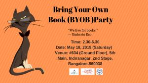 Bring Your Own Book (BYOB) Party on May 18, 2019 (Saturday)