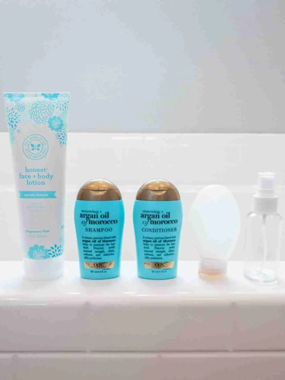 Toiletries to pack for minimalist travel