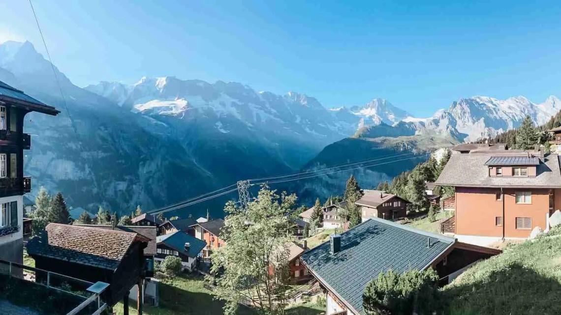Mountain town in the Lauterbrunnen Valley