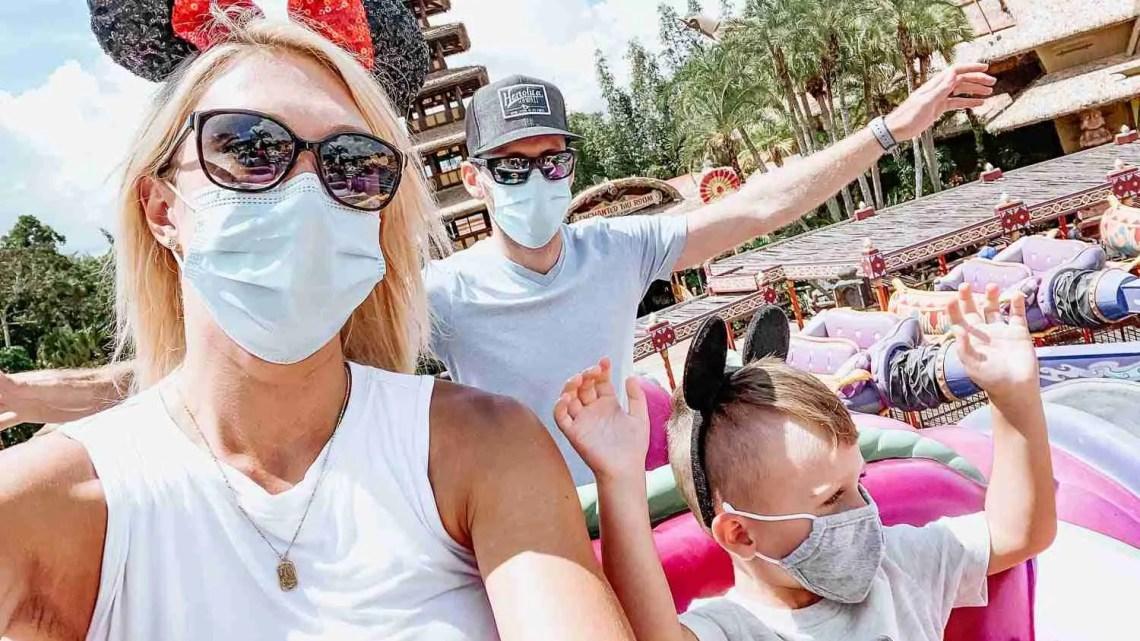 Family on Magic Carpets ride at Disney's Magic Kingdom