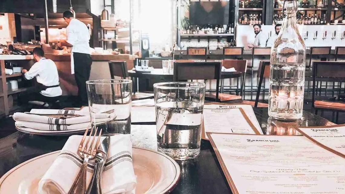 Restaurant Reservation table set up
