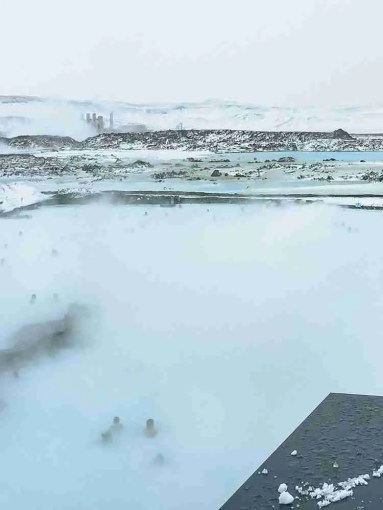 Steaming Blue Lagoon in Iceland