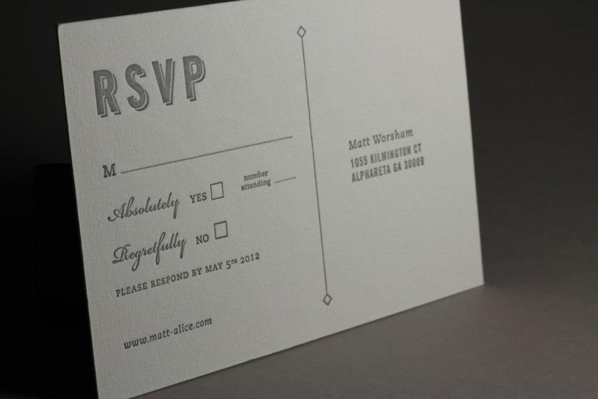 Page Stationery Rsvp Letterpress Card Wedding Invitation Wording