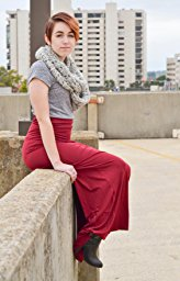 Azules Women_s Rayon Span Maxi Skirt_12