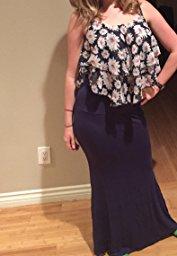 Azules Women_s Rayon Span Maxi Skirt_13