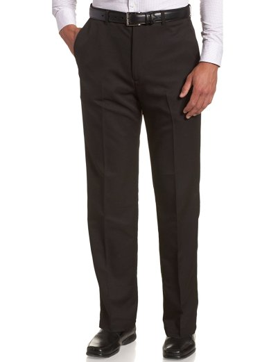 Haggar Men's Cool 18 Hidden Expandable-Waist Plain-Front Pant_2