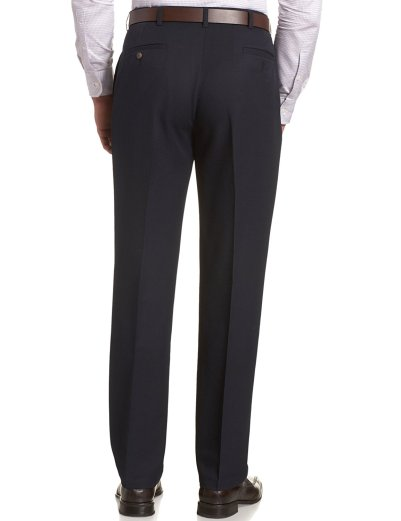 Haggar Men's Cool 18 Hidden Expandable-Waist Plain-Front Pant_4