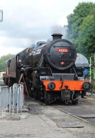 45212 lit up and in light steam ready for the off.