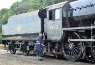 Tender and locomotive reunited once again