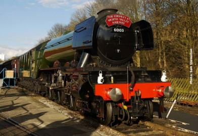 INGROW: 'Flying Scotsman' on display at Ingrow at the end of the day
