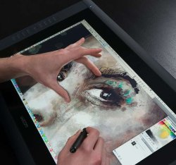 Fancy – Cintiq 22″ HD Touch Pen Display by Wacom