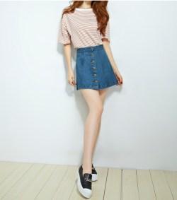 韩版牛仔春夏季半身裙