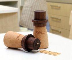 Wood Mr. Right Toothpick Holder