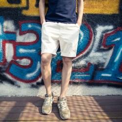 夏装男士纯色简约短裤