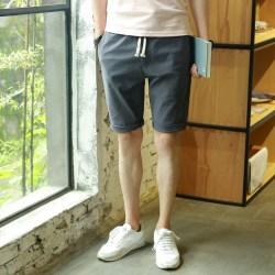 夏季新款五分裤男士亚麻短裤
