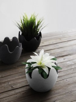 Handmade Ceramic Eggshell Flower Pot