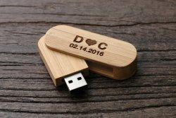 Valentine Personalized Wooden Walnut Flash USB Drive