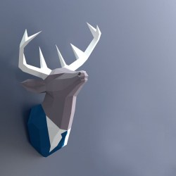 3D Papercraft Deer Head