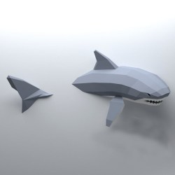 3D Papercraft Shark make it yourself