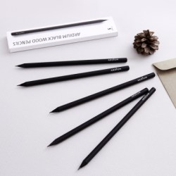 韩国ARDIUM黑色实木手工铅笔套装