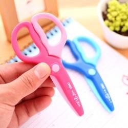得力儿童手工塑料安全剪刀