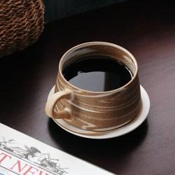 牛奶纹路咖啡杯