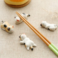 陶瓷猫咪筷子架