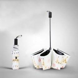 创意晴雨两用卡通折叠太阳伞