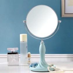欧式双面大号台式高清化妆镜