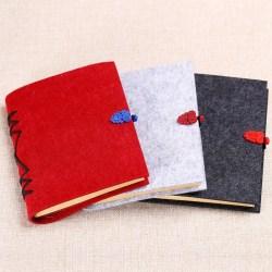 中国风复古线装牛皮纸带扣记事本