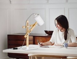 Tomons Wooden Multi-Angle Swing Arm Table LED Lamp