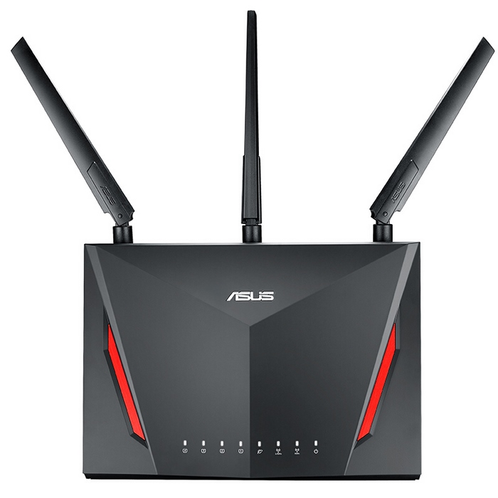 华硕(ASUS)RT-AC86U 2900M AC 双频智能无线千兆路由器,移动电竞手游利器