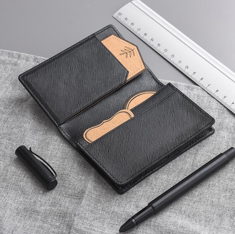 网易严选 牛皮十字纹名片夹,欧式简约商务设计