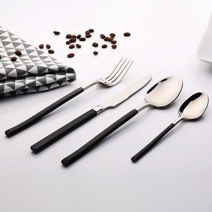 Gourmet Kitchen里斯本不锈钢餐具4件套,平淡餐桌点睛之笔