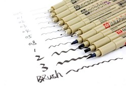 日本SAKURA/樱花针管笔 水彩/漫画手绘笔绘图笔套装