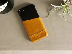 iPhone 8 / 7 Metro Leather Case – Caramel/Raven