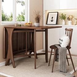 华纳斯 Huanasi 简约实木折叠餐桌,双面折叠,白蜡木实木