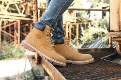 Dickies男鞋工装鞋,美式休闲大黄靴